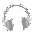 single headphones icon image vector image