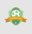 Soccer Football Badge and ribbon vector image vector image