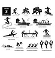 sport games alphabet s icons pictograph street vector image vector image