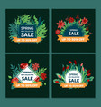 spring sale design collection banner with floral vector image