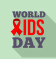 symbol world aids day logo set flat style vector image vector image