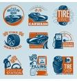 Tire Service Emblem Set vector image