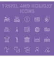 Travel and holiday icon set vector image vector image