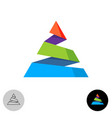 Triangle colorful abstract logo spiral cutted