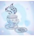 Watercolor Teacup vector image