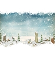 Winter holidays landscape EPS 10 vector image vector image