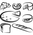 with a set of baking items vector image