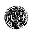 Black and white winter typography poster or card vector image