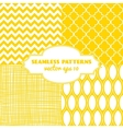 Set of sweet seamless patterns vector image