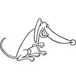 cartoon dog for coloring book vector image