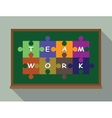team work concept puzzle vector image