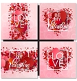 Set of Happy valentines day and weeding design vector image