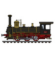 vintage black steam locomotive vector image