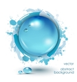 Abstract background with water drops vector image vector image