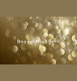 abstract gold glitter splash bokeh luxury vector image vector image