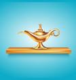 Aladdin lamp on pedestal composition vector image