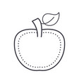 apple line icon sign on vector image vector image