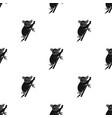 australian koala icon in black style isolated on vector image