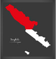 bengkulu indonesia map with indonesian national vector image vector image