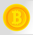 bitcoin symbol golden concept digital money vector image