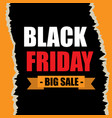 black friday banner ad for your business event vector image vector image