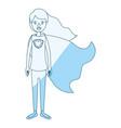 blue silhouette shading cartoon full body super vector image vector image
