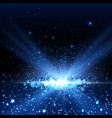 blue spotlight background vector image vector image