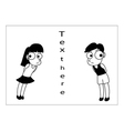 Boy and girl cartoon vector image vector image