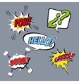 Bubble pop art icon set design vector image vector image