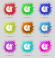 CD or DVD icon sign Nine original needle buttons vector image vector image