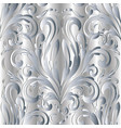damask baroque silver 3d seamless pattern vector image vector image