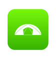 dome tent for camping icon digital green vector image vector image