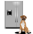 domestic refrigerator with unit for cold water vector image vector image