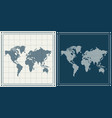 dotted world maps set vector image