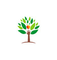 ecology hand green tree fresh fruit logo vector image vector image