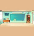 empty classroom interior school or college class vector image