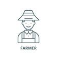 farmer line icon linear concept outline vector image vector image