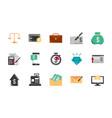 finance money business economy icons set vector image