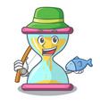 fishing modern hourglass on the table cartoon vector image vector image