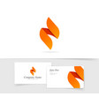 flame logo isolated flat ignite vector image vector image