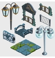 Fragments of decoration fence bridge gate pub vector image vector image