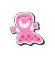 funny monster icon vector image vector image