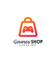 games store logo icon design template game shop vector image