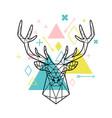geometric head deer vector image vector image
