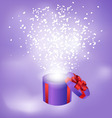 gift box abstract background vector image