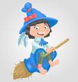 Girl witch halloween vector image