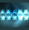 glass glowing bright triangles on dark space vector image