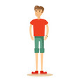 handsome man in shorts vector image vector image