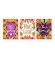 happy thanksgiving day greeting cards vector image vector image