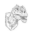 head dinosaur vector image